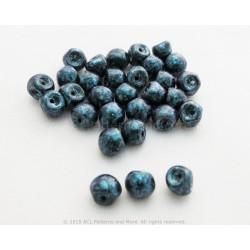 Czech Mushroom Beads - Van Gogh Zircon