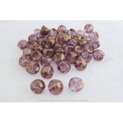 Czech Mushroom Beads - Rose Lumi