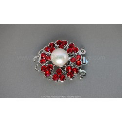 Multi-strand Flower Box Clasp - Red