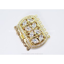 Multi-strand Majestic Box Clasp - Gold