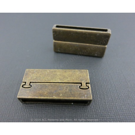 Magnetic Rectangular Clasp - Antique Bronze