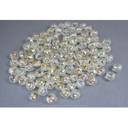 Round Faceted AB Beads - Golden