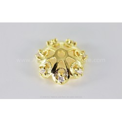 Filigree CZ end - Gold