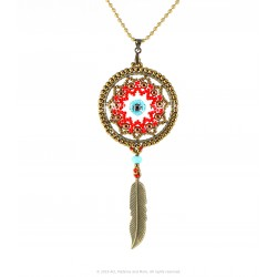 Talisman Dream Catcher Pendant Kit - Red