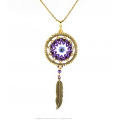 Talisman Dream Catcher Pendant Kit - Purple