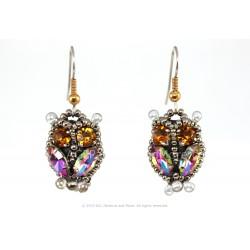 Owl Earrings - Papagallo/Citrine