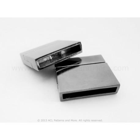Magnetic Square Clasp - Coal
