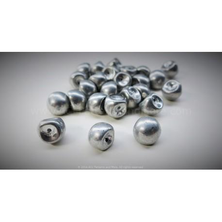 Czech Mushroom Beads - Silver