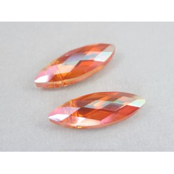 Small Faceted Oval Beads - Sunset AB
