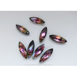 Small Faceted Oval Beads - Mystic Purple