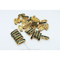 Rhinestone Components - Emerald Gold