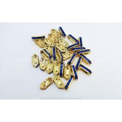 Rhinestone Components - Sapphire Gold