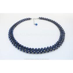 Espiga Necklace - Sapphire Gunmetal