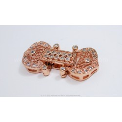Filigree  and CZ Clasp - Rose Gold