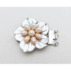 Flower and Pearls Box Clasp