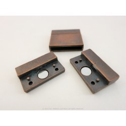 Magnetic Square Clasp - Rusted Copper