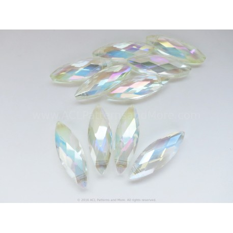 Faceted Oval Beads - Golden Dust AB