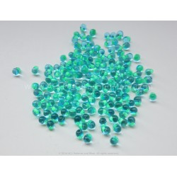 Drop Beads - Turquoise Lined Aqua Glass