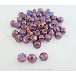 Czech Mushroom Beads - Blue Lumi