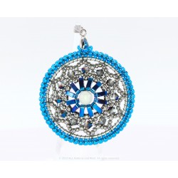 Rose Window Pendant Kit - Terra Blue