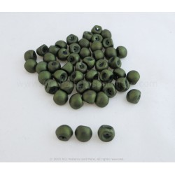Czech Mushroom Beads - Matte Olive