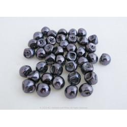 Czech Mushroom Beads - Purple Lumi