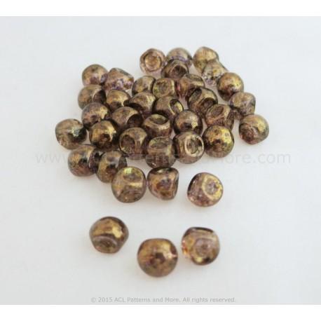 Czech Mushroom Beads - Taupe Lumi