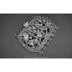 Multi-strand Majestic Box Clasp - Platinum