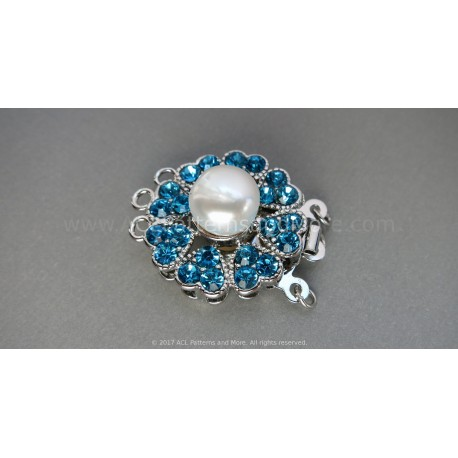 Multi-strand Flower Box Clasp - Zircon