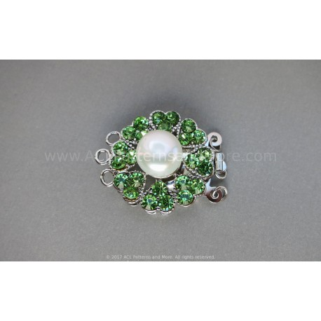 Multi-strand Flower Box Clasp - Peridot