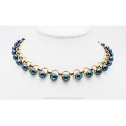 Gitana Necklace Kit - Denim AB
