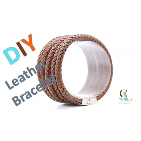 Free Leather cord Bracelet Video Tutorial