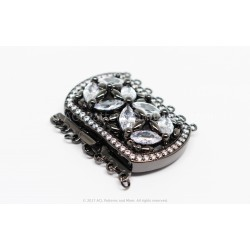 Multi-strand Majestic Box Clasp - Black