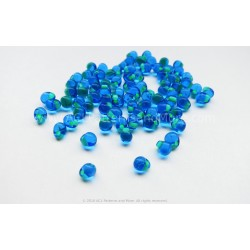 Drop Beads - Turquoise Lined Blue