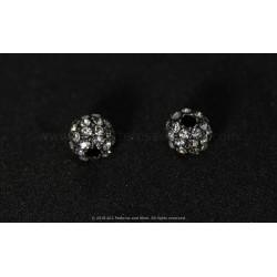Rhinestone Beads - Gunmetal