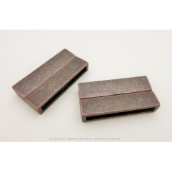 Magnetic Rectangular Clasp - Rusted Copper