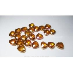 Faceted Glass Petals - Fire Opal