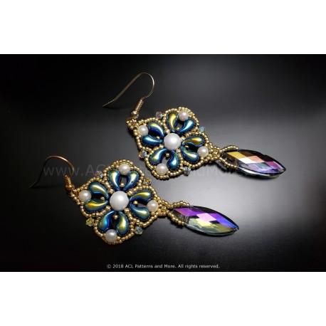 Elegant Drop Earrings and Pendant Set Kit - Jet AB
