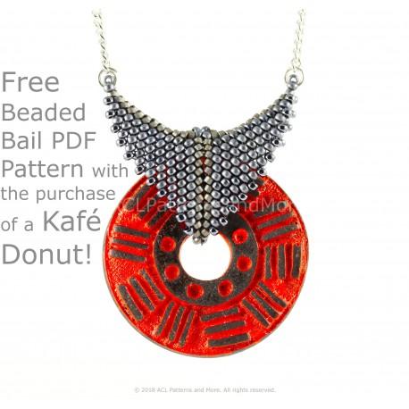 Coffee Donut Beaded Bail