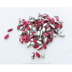 Navette Rhinestones - Red