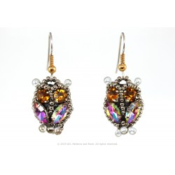 Owl Earrings - Papagallo/Citrine