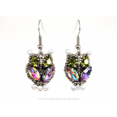 Owl Earrings - Papagallo/Green