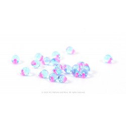 Drop Beads - Hot Pink Lined Aqua