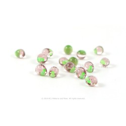 Drop Beads - Mint Green Lined Smoky Amethyst