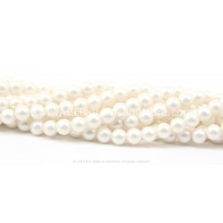 7mm Iridescent Glass Pearls - Shell