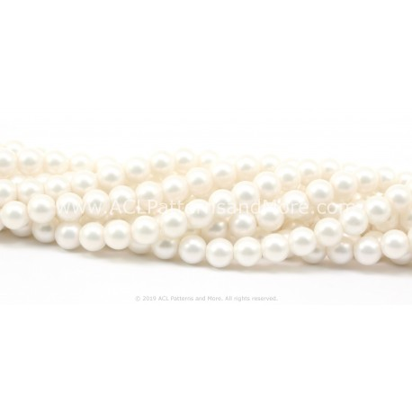 7mm Iridescent Glass Pearls -
