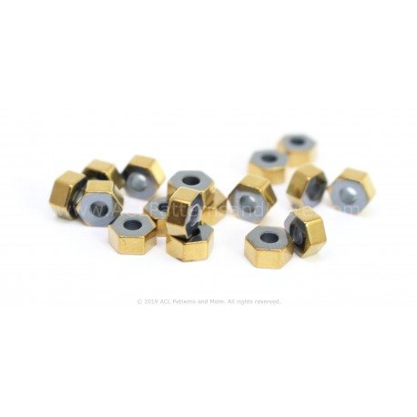 HexA-Two Beads - Gold
