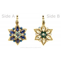 Double Sided Star Pendant Kit - Sapphire / Citrine