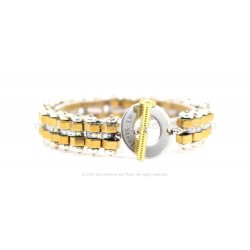 Bike Chain Bracelet - Gold