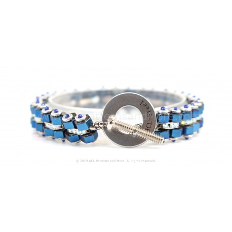 Bike Chain Bracelet - Terra Blue